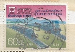 CEYLON ( SRI LANKA)  1964 The 100th Anniversary Of Railroads  SET     Used - Ceylon (...-1947)
