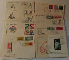 """869/925, Jahrgang 1962 Auf FDC, Dabei """"Dimitroff"""", """"Weltfestspiele"""", Block 17 Etc., Sehr Hoher KW! - DDR"""