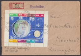 """926/33 """"Kosmos""""-KB, 1962, R-Brief, Rechter Rand Nicht Durchgezähnt - DDR"""