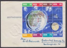 """926/33 """"Kosmos""""-KB, 1962, Ohne Rand, Gelaufener FDC """"Arnsdorf"""", 28.1.262 - DDR"""
