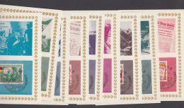 """1102/10 """"Befreiung"""", 1965, 9 Farbige Maximumkarten Im Pass. Mäppchen, ESst, Nicht Häufig! - DDR"""