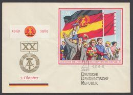 """1508, """"20 Jahre DDR"""", Blockmarke Mit ESst. - DDR"""