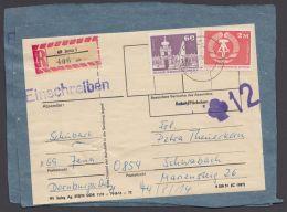 """1900, 1919, 2 X Seltene MiF Auf R-Päckchen, 1x Seltener Überwachungsstempel """"12"""" - DDR"""