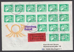 1947, Portoger. MeF Mit 17 Werten Auf Eilboten Mit Ankunft - DDR