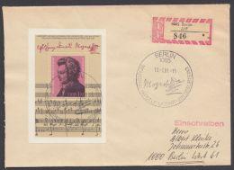 """Block 62, """"Mozart"""", R-Brief Mit ESst. - DDR"""