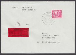 2633, EF Auf Wertbrief Mit Ankunft - DDR