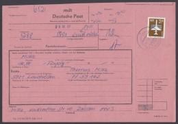 2868, Portoger. EF Auf Telegramm, 6.9.89 - DDR