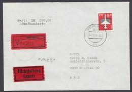 2967, EF Auf Eilboten-Wertbrief Mit Ankunft - DDR