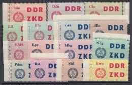 """ZKD : 1/15 """"Laufkontrollzettel"""", Alles Randstücke, ** - DDR"""