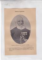 CORONEL DON MARIANO PAUNERO. ARGENTINE PATRIOTIQUES LAMINA SHEET PLANCHE CIRCA 1890s RARES SIZE 13x19 Cm - BLEUP - Affiches