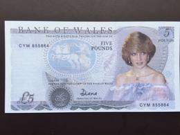 WALES PNL 5 POUNDS ND UNC - Banknoten