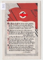 252, Postkarte Mit Fahnen Und Spruch Von Horst Wessel, Schöne Farb Karte ! - Guerre 1939-45