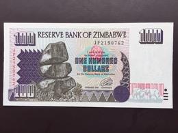 ZIMBAWE P9 100 DOLLARS 1995 UNC - Zimbabwe