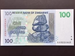 ZIMBAWE P69 100 DOLLARS 2007 UNC - Zimbabwe