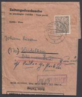 """48, EF Auf """"Zeitungsdrucksache"""", """"Bad Ems"""", 8.10.56, Selten! - Briefe U. Dokumente"""