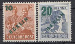 """65/6 """"Grünaufdruck"""", Beide Geprüft, ** - Berlin (West)"""
