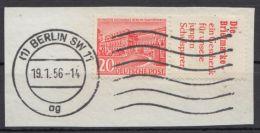 """W 17 """"Die Briefmarke"""", Briefstück, Sauber Gestempelt - Zusammendrucke"""