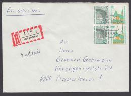W 97/8, 4er Block Aus MH 15 Auf R-Brief - Zusammendrucke