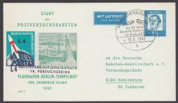 """PP 31 C 1/03 B, """"Postversuchsrakete"""", Mit Pass. Vignette - Berlin (West)"""
