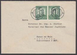"""174, MeF Mit 2 Werten, Bedarf """"Hanau"""", 1.11.53 - [7] Federal Republic"""
