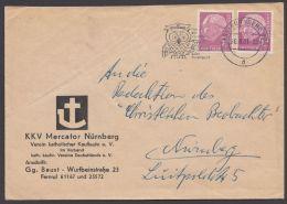 """179y, MeF """"Heuß Lumogen"""", Ortsbrief """"Nürnberg"""", 20.8.61 - BRD"""