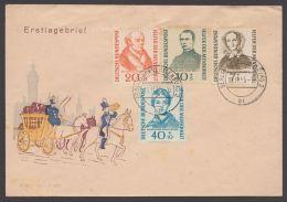 """222/5, """"Wohlfahrt"""", Ersttag """"Berlin"""", Einge Braune Zahnspitzen - BRD"""