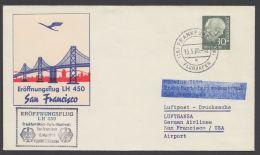 259, EF Auf Luftpost In Die USA Mit Ankunft - BRD