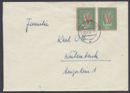 """286, MeF Mit 2 Werten, Bedarf """"Oeslau"""", 1958 - BRD"""