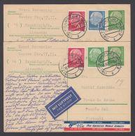 P 31, 2 Bedarfskarten Per Luftpost Nach Portugal - BRD