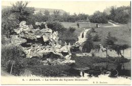 LOT 2 CPA DE ARRAS  (PAS DE CALAIS)  LA GROTTE DU SQUARE MEAULENS. HÔTEL DE VILLE RUE DES TROIS VISAGES - Arras