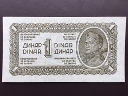 YOUGOSLAVIA P48 1 DINAR 1944 UNC - Yougoslavie