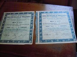 ACTION EXPOSITION INTERNATIONALE ART DECO 1925 ARTS DECORATIFS ET INDUSTRIELS MODERNES PARIS  50 FRANCS AU PORTEUR - Industrie