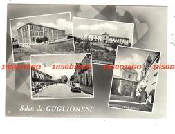 SALUTI DA GUGLIONESI - MULTIVEDUTE F/GRANDE VIAGGIATA 1958 ANIMATA - Campobasso