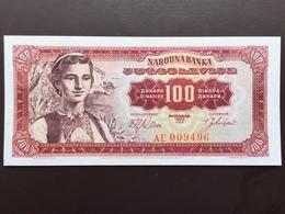 YOUGOSLAVIA P100 DINAR 1.5.1963 UNC - Yugoslavia