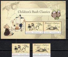 AUSTRALIA, 2018, MNH, CHILDREN'S FAIRY TALES, BUSH CLASSICS, PENGUINS, ANTS, 2v+SHEETLET - Fairy Tales, Popular Stories & Legends