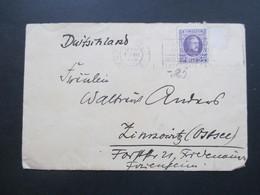 Belgien 1926 Brief Nach Zinnowitz (Ostsee) Umschlag Der DOAL / Deutsch Ost Afrika Linie. Schiffspost - Belgien