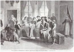 Gravure 1863  Dames Polonaises Charpie Gouvernement De Minsk Pologne - Ohne Zuordnung