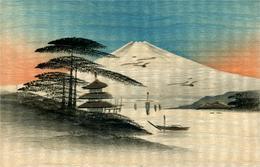Fuji Yama JAPON Peinture Sur Carte En Bois  ? - Japon