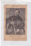 EL MARISCAL FRANCISCO SOLANO LOPEZ. PARAGUAY PATRIOTIQUES LAMINA SHEET PLANCHE CIRCA 1890s RARES SIZE 14x21 Cm - BLEUP - Posters