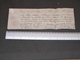 MANDAT A L'ORDRE - Liège Le 8/4/1862 -bon Pour 250fr - 3 Cachets - DEMONT/DISON- GOETHAELS &Cie-Effet De Commerce - 1800 – 1899