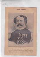GENERAL CESAREO DOMINGUEZ. ARGENTINE PATRIOTIQUES LAMINA SHEET PLANCHE CIRCA 1890s RARES SIZE 14x21 Cm - BLEUP - Affiches