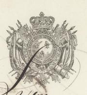 Chasseurs à Cheval De La Dordogne 9ème Régiment 1818 Le Capitaine Gayant - Historical Documents