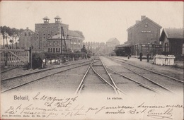 Beloeil La Station Gare Statie Animee Geanimeerd 1904 (des Plis) - Beloeil