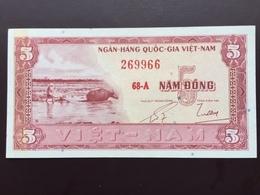 VIETNAM SOUTH P13 5 DONG 1955 AUNC - Vietnam