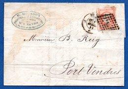 Lettre / De Paris / Pour Port Vendres / 15 Avril 1859 - Marcophilie (Lettres)