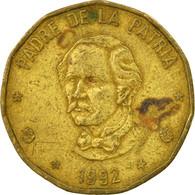 Monnaie, Dominican Republic, Peso, 1992, TB+, Laiton, KM:80.1 - Dominicana