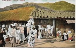 COREE - KOREA  -  CHUSAN  - VILLAGE STREET - (RUE DU VILLAGE AVEC ANIMATION) - - B246 - Corée Du Sud
