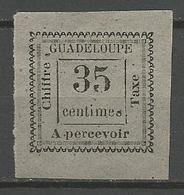 GUADELOUPE TAXE N° 11 NEUF* CHARNIERE / Signé CALVES / - Guadeloupe (1884-1947)