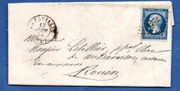 Lettre / De La Feuillie / Pour Rouen / 17 Juin 1856 - 1849-1876: Klassik