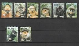 Vietnam 2002 Primates In Vietnam 8v NH - Viêt-Nam